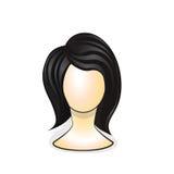 Wig på skyltdockahuvudet Vektor Illustrationer