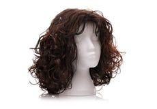 Wig. On polystyrene mannequin foam head Royalty Free Stock Photo
