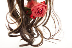 Wig with rose Stock Images