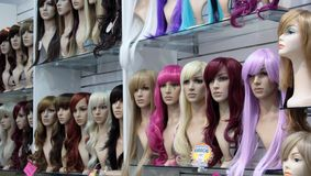 Wig shop Stock Photo