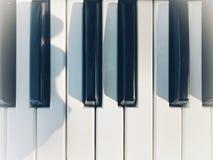 Wig van de piano stock foto's