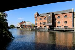 Wigan Pier Complex. The buildings of the Wigan Pier complex under a sunny sky Royalty Free Stock Image