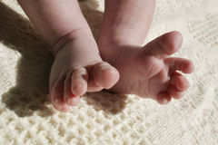 Wiggeling toes Stock Image