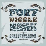 Wiggle шрифта Стоковые Изображения RF