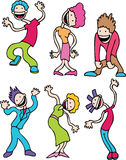 Wiggly Dancers Royalty Free Stock Photo