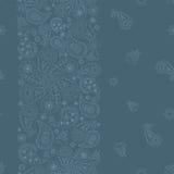 Wight на голубом орнаменте Стоковое Изображение