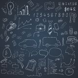 Wight doodle elements of business infographic Stock Image