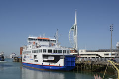 Wight Link Car Ferry at Portsmouth, England Royalty Free Stock Images