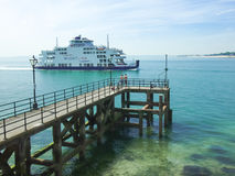 Wightlink car ferry travelling from The isle of Wight to Portsmouth Royalty Free Stock Photo