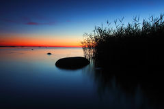 Wightnacht auf dem finnischen Golf Lizenzfreie Stockfotos