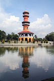 Wighun Thasana Tower, Bang Pa-In palace Stock Image
