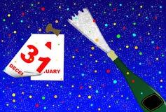 wigilia nowego roku Zdjęcia Stock