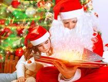 Wigilia z Święty Mikołaj Obrazy Royalty Free