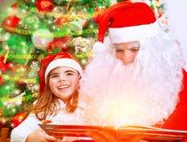 Wigilia z Święty Mikołaj Zdjęcie Royalty Free