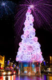 wigilii fajerwerków nowy drzewny rok Zdjęcie Stock