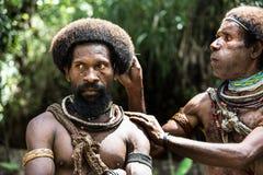 Wigmen de Papúa Nueva Guinea Imagen de archivo libre de regalías