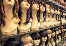 Wigs shop Royalty Free Stock Photos