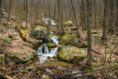 Wigwam Falls - Blue Ridge Parkway, Virginia, USA. Wigwam Falls located at the Yankee Horse Ridge Parking Area at milepost 34.4 on the Blue Ridge Parkway Royalty Free Stock Photos