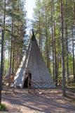Wigwam in the forest Stock Photos