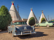 Wigwam hotel on Route 66 in Holbrook Arizona. USA royalty free stock images
