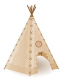 Wigwam indians  illustration Stock Images