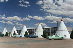 Wigwam Motel. While many Route 66 motels withered and died with the coming of the interstates, some — such as the Wigwam Motel in Holbrook, Arizona royalty free stock image