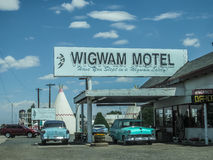 Wigwam Motel Arizona. Wigwam Motel sign in Holbrook, Arizona stock photo