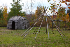 Wigwam & Structure of tepee Royalty Free Stock Image