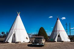 Wigwam Village - Holbrook, AZ. The Wigwam Motels, also known as the `Wigwam Villages`, is a motel chain in the United States built during the 1930s and 1940s Royalty Free Stock Image