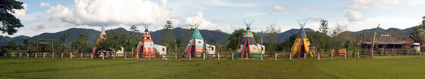 Wigwams Royalty Free Stock Image