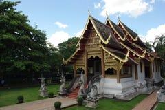 Wihan赖西康省在Wat Phra辛哈在清迈, 库存图片