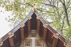 Wihan Lai Kham pagod på Phra Singh Temple arkivbild