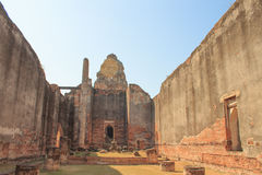 Wihan Luang Wat Phra Si Ratana玛哈那 库存照片