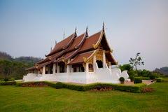 Wihan Phrachao Lan Thong. At Mae Fah Luang University, Chiang Rai, Thailand Royalty Free Stock Photos