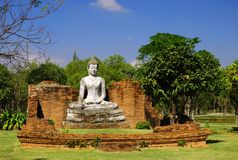 The Wihan of Wat Pho Kao Ton, Sing Buri , Thailand Royalty Free Stock Photo