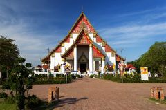 Wiharn Phra Mongkhon Bopit寺庙, Ayutthaya 库存照片
