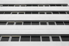 Wihite building with windows Royalty Free Stock Photography