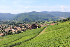 Wihr-au-Val, village of Alsace Stock Images