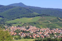 Wihr-au-Val, village of Alsace Royalty Free Stock Photos