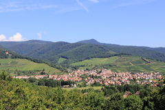 Wihr-au-Val, village of Alsace Stock Photography