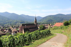 Wihr-au-Val, village of Alsace Royalty Free Stock Photo