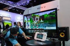 Wii U convenable à E3 2012 Photographie stock libre de droits