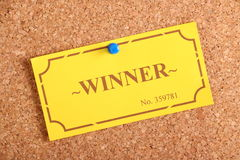 The Winning Ticket Royalty Free Stock Images