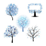 Wiinter Tree Set Stock Image