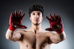 Wiith muscular del boxeador Imagen de archivo libre de regalías