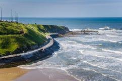 Wijąca Brzegowa ścieżka na Zachodnim żakiecie Anglia Obraz Royalty Free