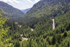 Wijąca halna autostrada Rumuński Transfagarasan zdjęcia royalty free