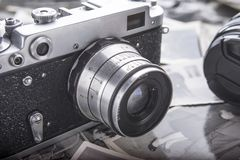 Wij allen houden van retro fotografie stock foto's