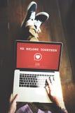 Wij behoren samen Valentine Romance Heart Love Passion-Concept Stock Fotografie