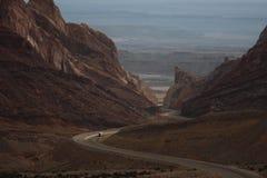 Wijąca autostrada w Utah Fotografia Stock